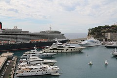 10th August 2017. Superyachts and Cunarder Queen Victoria at Monte Carlo