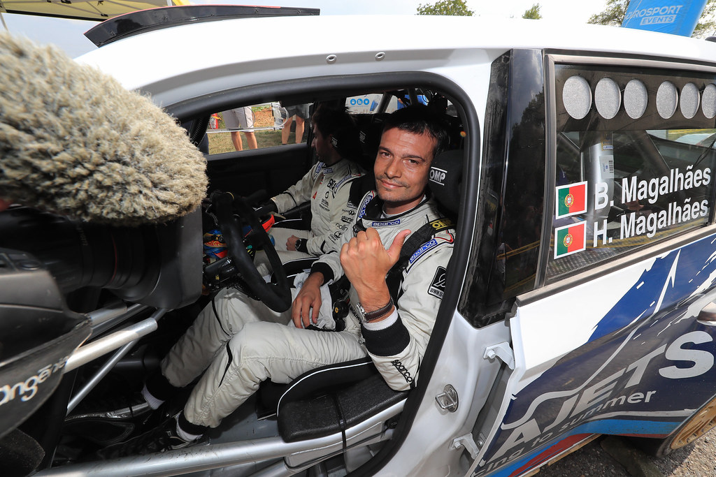 03 MAGALHAES Bruno (PRT)  MAGALHAES Hugo (PRT) Skoda Fabia R5 portrait during the 2017 European Rally Championship ERC Barum rally,  from August 25 to 27, at Zlin, Czech Republic - Photo Jorge Cunha / DPPI