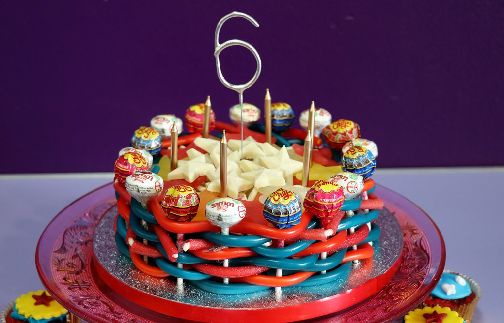 D 6th Birthday Sweetiecake Candles