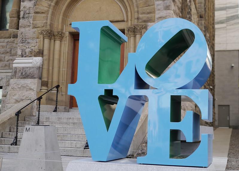 Robert Indiana, LOVE Blue Green, 1996