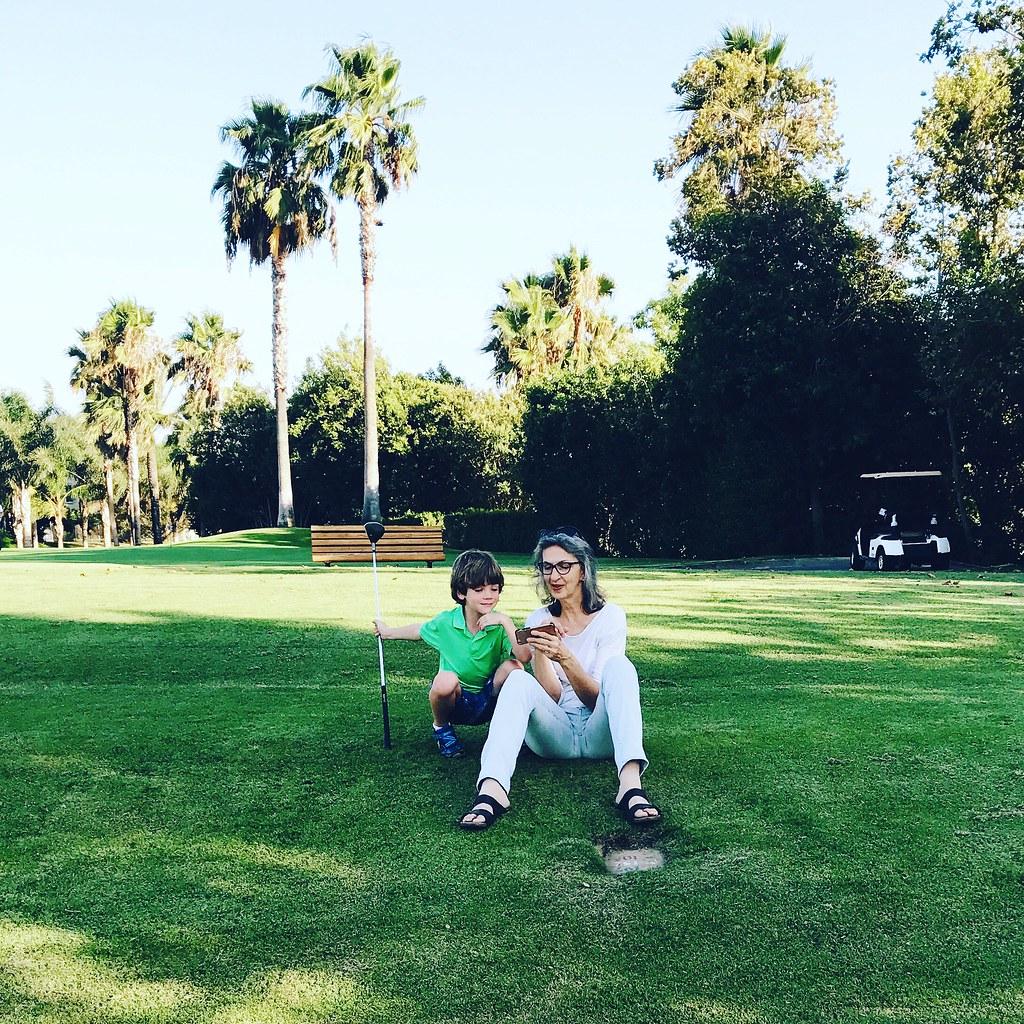 golfing with grandma