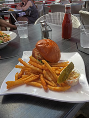 Crabcake Burger, River Dock Cafe, Staten Island