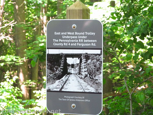 What the railroad and trolley line used to look like along the Ontario Pathways Rail Trail in New York