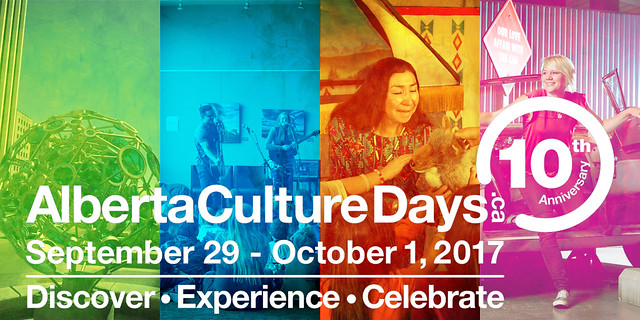 Alberta Culture Days - Sept. 29 - Oct. 1, 2017