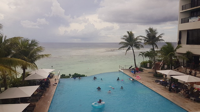 View from the infinity pool of Guam Reef and Olive Spa Resort
