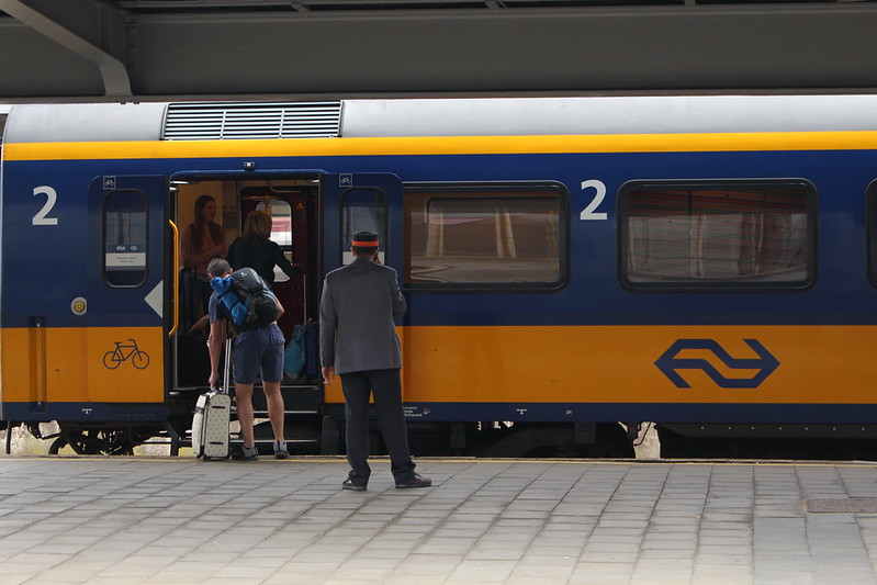 Dutch train in Brussels