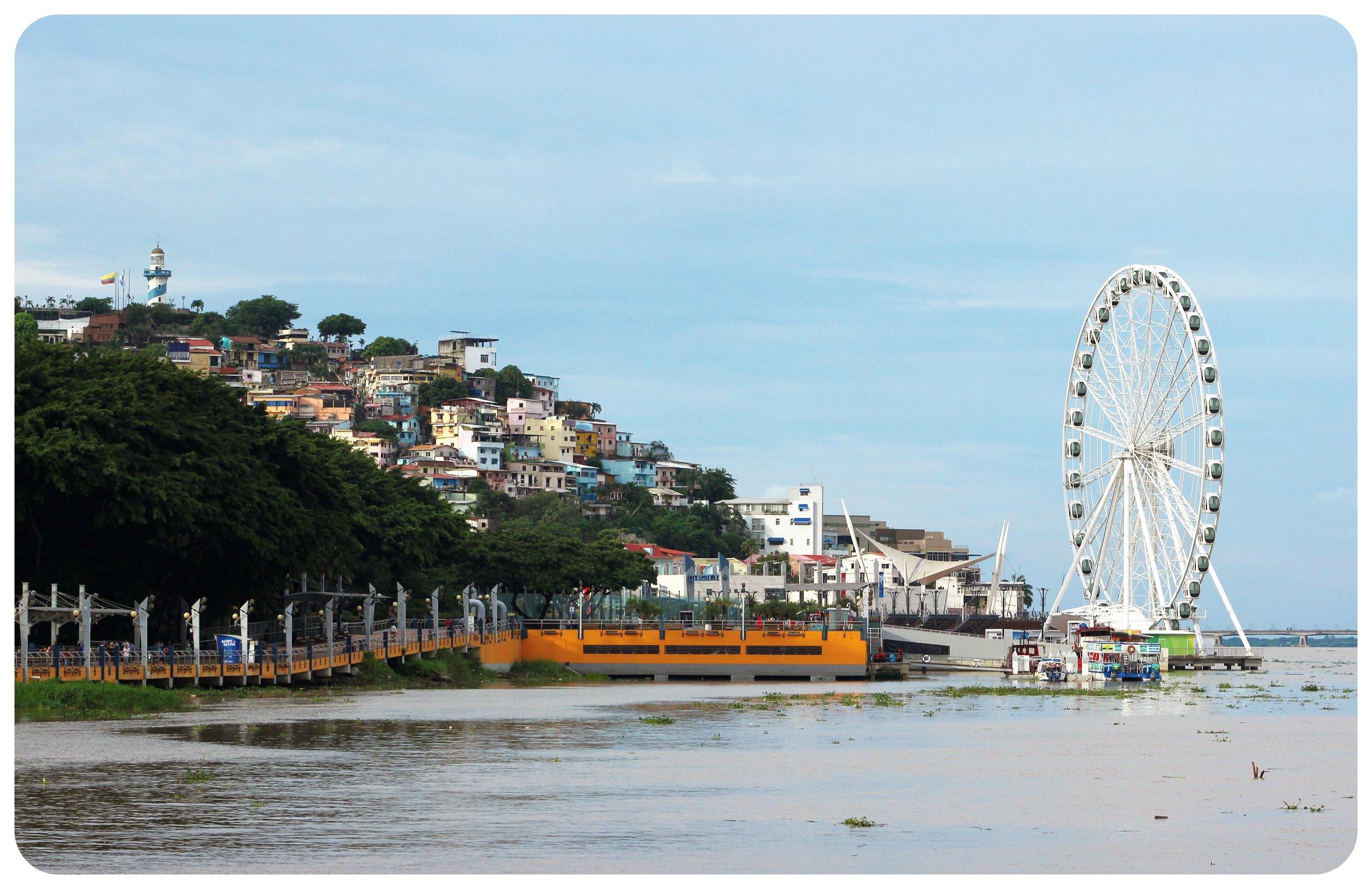 guayaquil ferris wheel & cerro santa ana