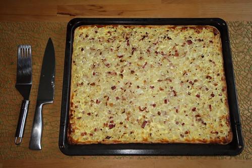 Zwiebelkuchen nach Art meiner Mutter (Blech)
