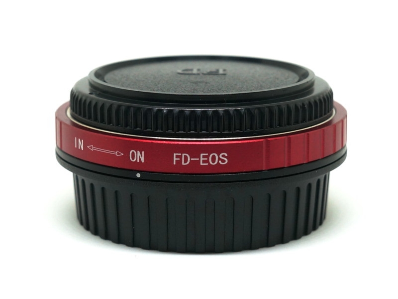 FD-EOS Lens Mount Adapter with Optical Glass Correction Lens canon fd fl eos ef efs