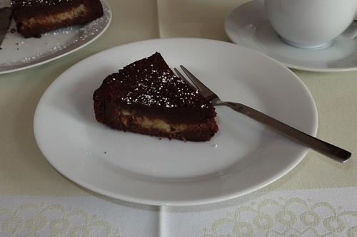 Schoko-Bananen-Kuchen (Stück zum Nachmittagskaffee)