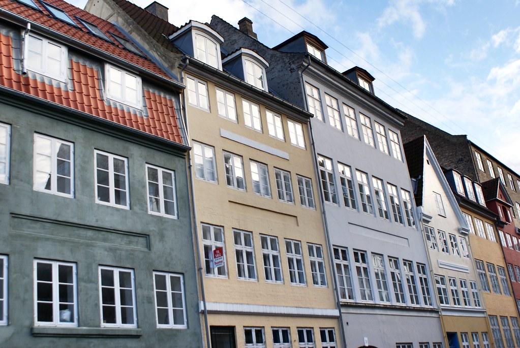 > Façade dans le quartier de Christianshavn à Copenhague.