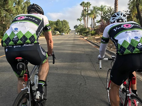 Are you Nutz? Rode a number of little rollers in Rancho Bernardo and Poway this morning. Always more fun with friends along.