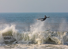 Fly surfing?