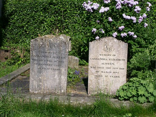 Grave of Jane Austens sister and mother near Chawton Church