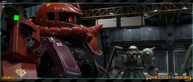 Gundam Prototype - Hangar Zaku