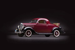 1935 Ford V8 Deluxe 3 Window Coupe.