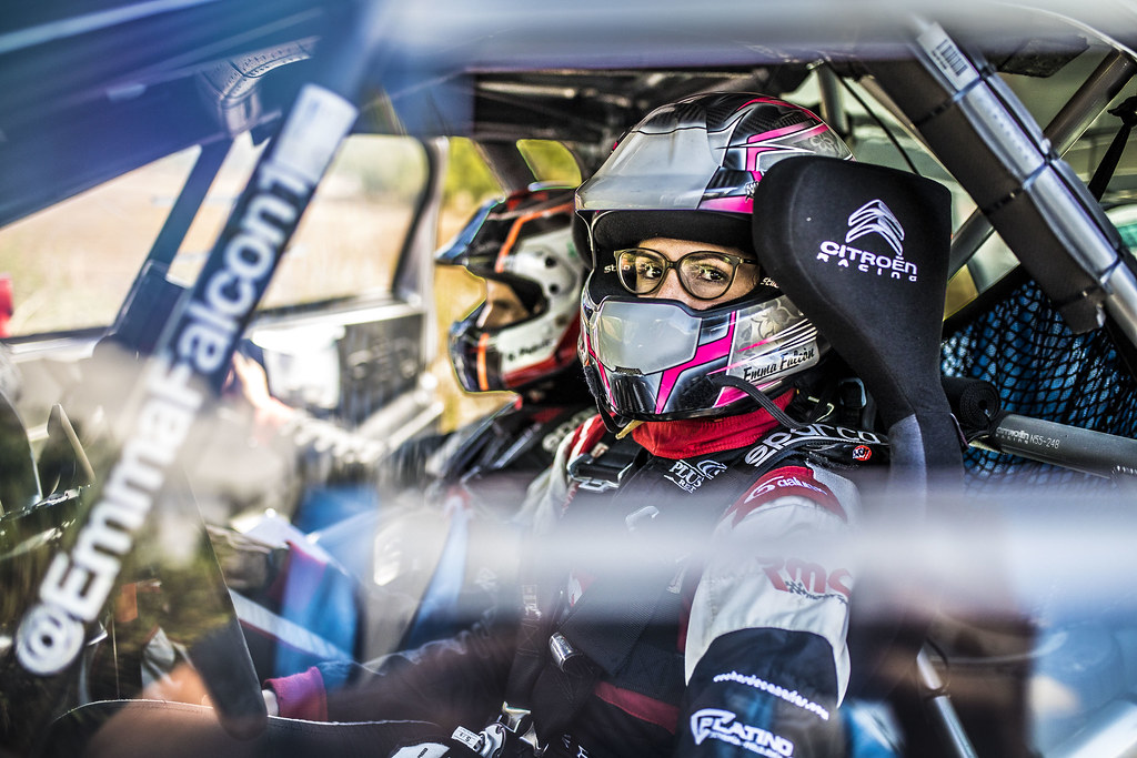 FALCON Emma (ESP) PENATE Rogelio (ESP) Citroen DS3 R3T ambiance Portrait during the 2017 European Rally Championship ERC Rally di Roma Capitale,  from september 15 to 17 , at Fiuggi, Italia - Photo Gregory Lenormand / DPPI