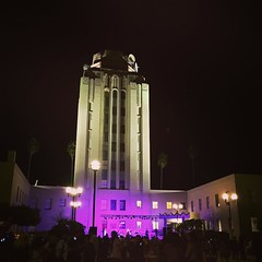 Bandstand at Van Nuys Arts Festival We had a well attended art festival last night right here in our civic center. Great to see that space put to good use. Thanks to @cd6nury and many others for helping to make it happen. #architecture #people #night #bui