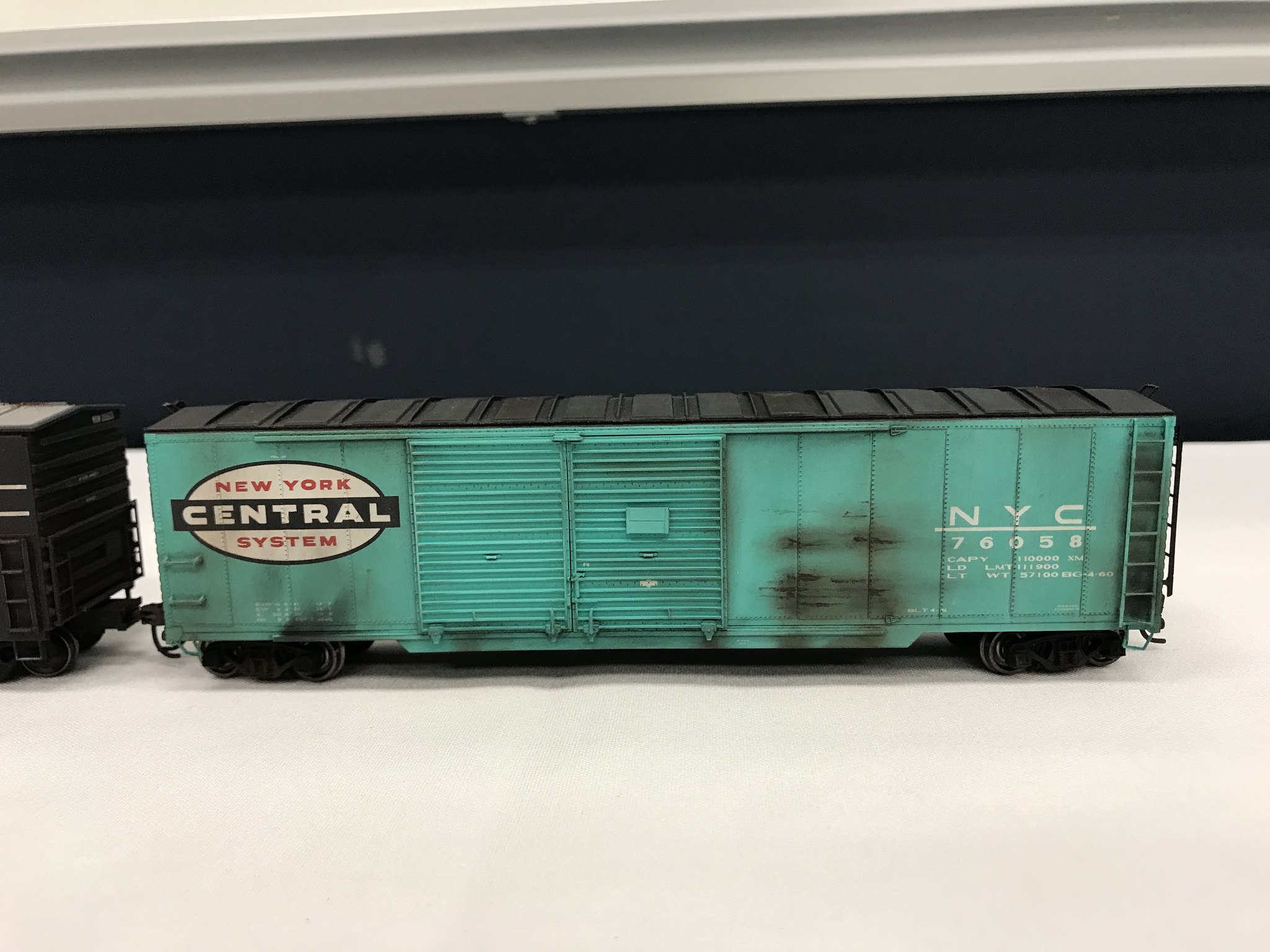 Weathered NYC boxcar