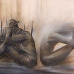 Austin Howlett; Erasing Our Humanity; Oil on panel; 2017 -