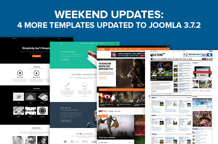 JoomlArt Template Pack Update August 2017
