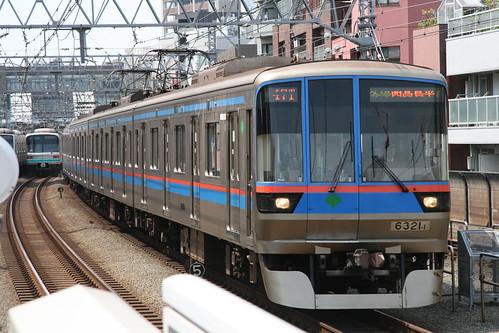 Toei 6300 series in Shin-Maruko.Sta, Kawasaki, Kanagawa, Japan /May 1, 2017