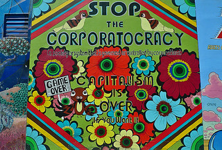 Mural in the City - Clarion Alley Corporatocracy