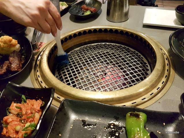 Gyukaku Japanese BBQ grill oil