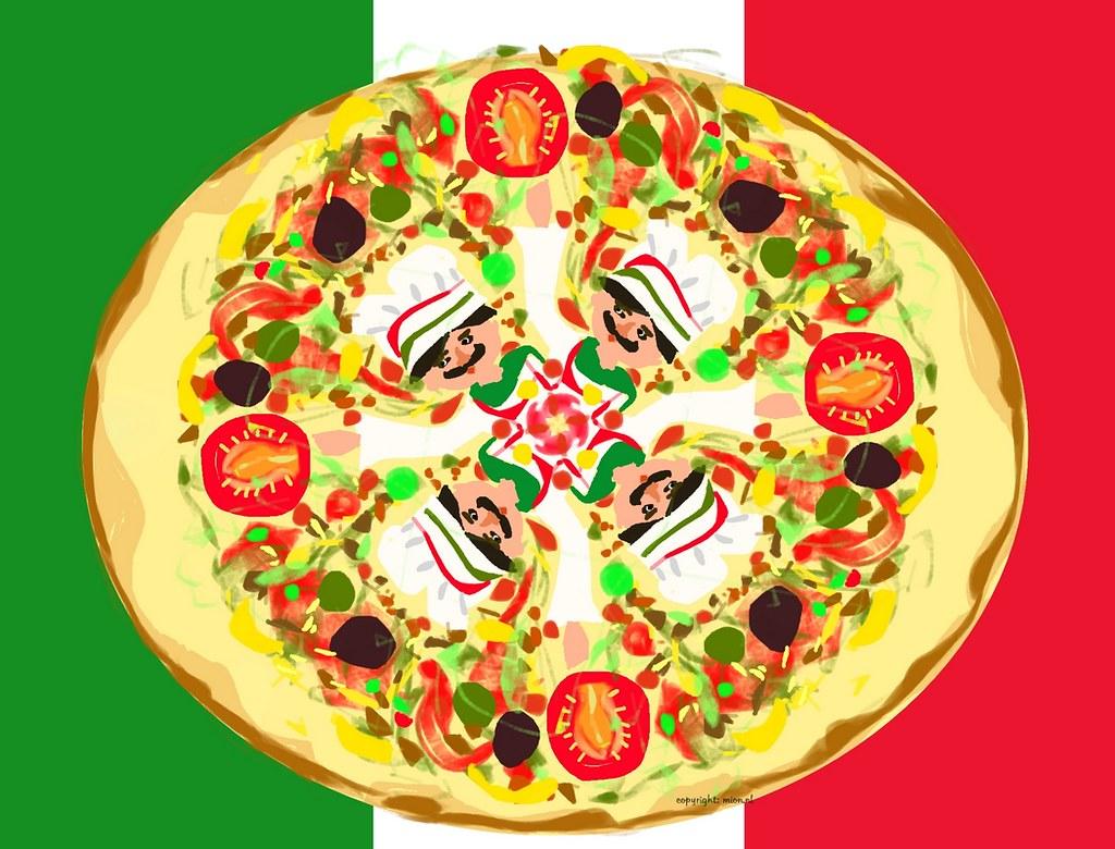 Pizza for Illustration Friday