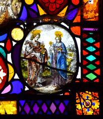 St John and St Agatha holding the Christ Child