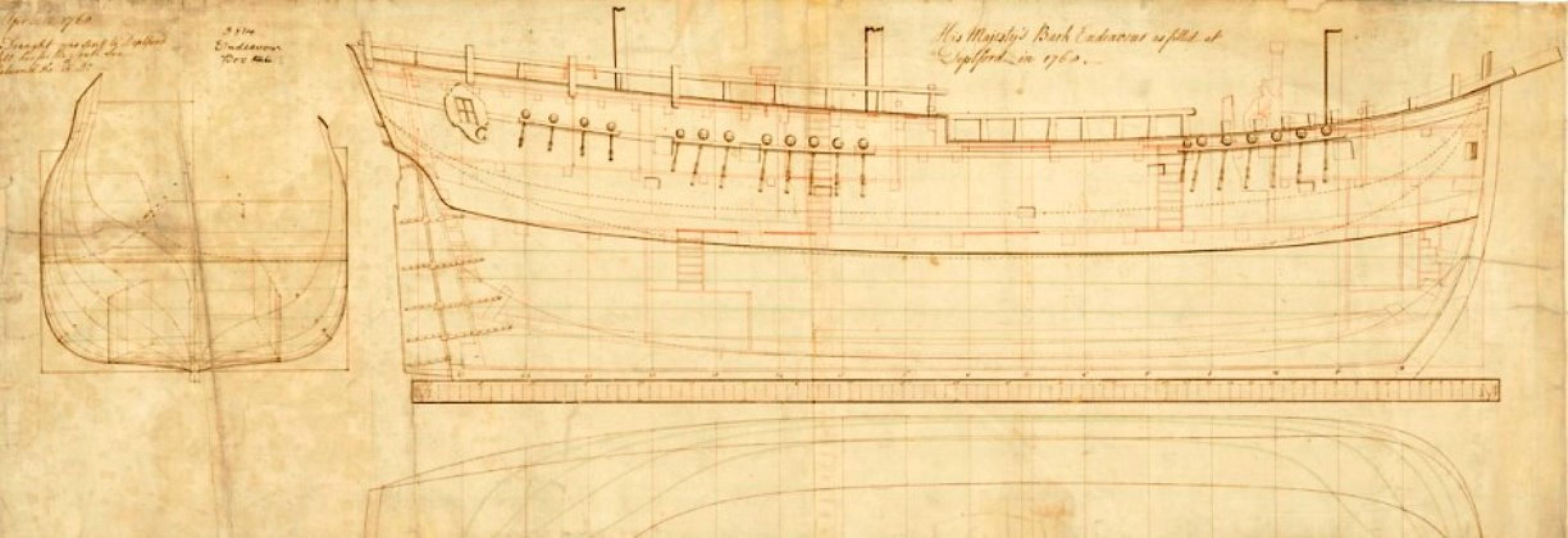 Admiralty plan of HMS Endeavour