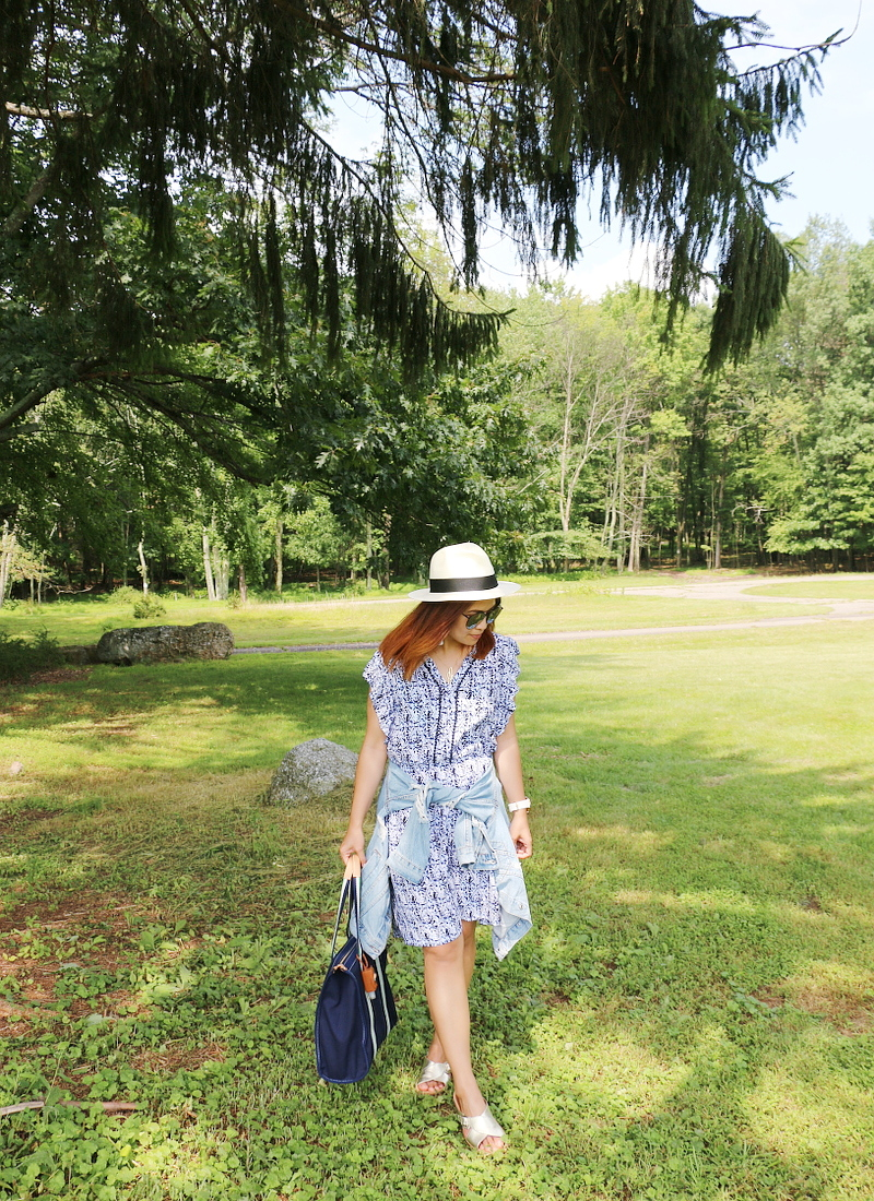 denim-jacket-blue-dress-coverup-straw-hat-2