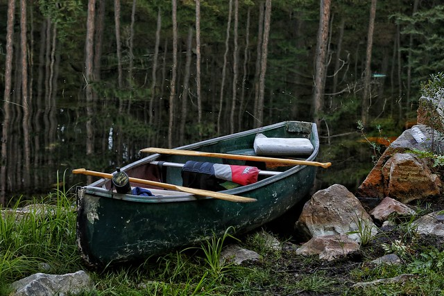 Fishing canoe we passed on the portage