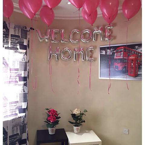 Folieballon Letters Welkom Thuis