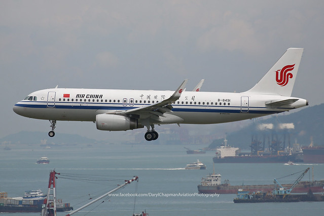 "Airbus, A320-232, B-8491, ""Air China"", VHHH, Hong Kong"