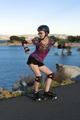 Skating at Folsom Lake