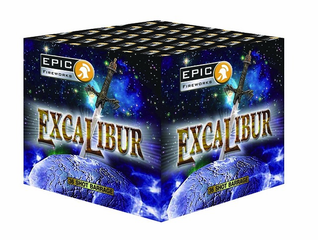 Excalibur 36 Shot Single Ignition Barrage #EpicFireworks