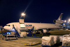 Global Africa Cargo MD-11F Z-GAA parked at SGN/VVTS