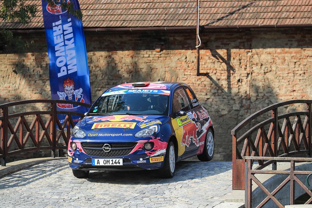 49 MOLINARO Tamara (ITA) BERNARCCHINI  GIOVANNI (ITA)  Opel Adam R2 action during the 2017 European Rally Championship ERC Barum rally,  from August 25 to 27, at Zlin, Czech Republic - Photo Jorge Cunha / DPPI