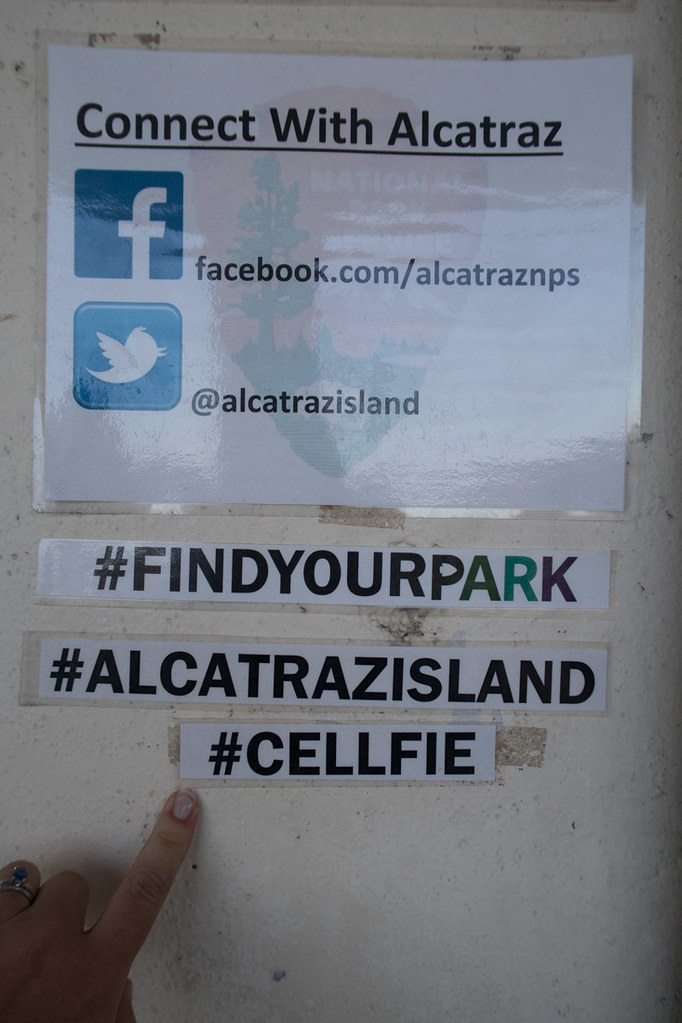 Cellfie hashtag at Alcatraz