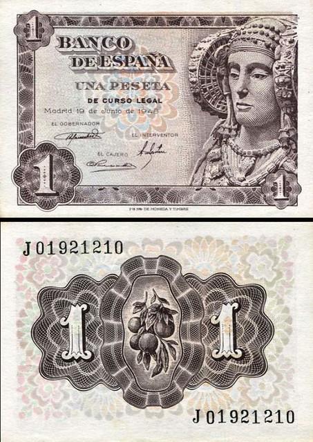 1 Peseta Španielsko 1948, P135