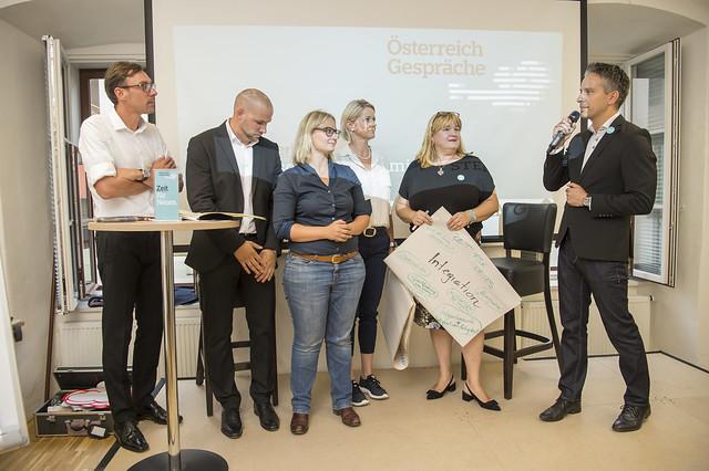 Oesterreich Gespraech Team Kurz Graz