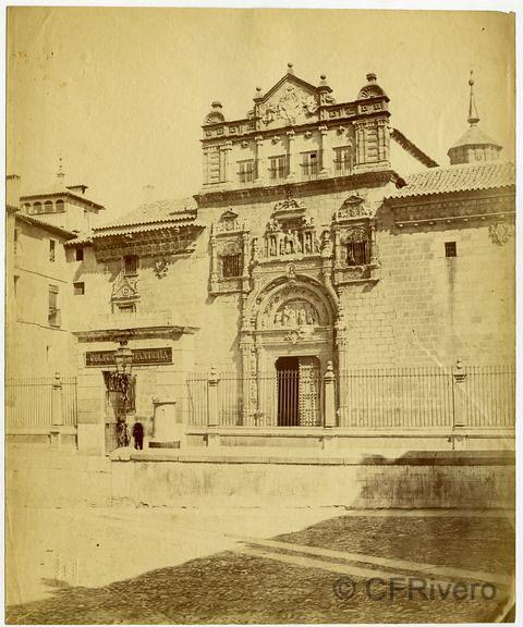 Hospital de Santa Cruz en Toledo fotografiado por Louis Léon Masson. Colección Fernández Rivero