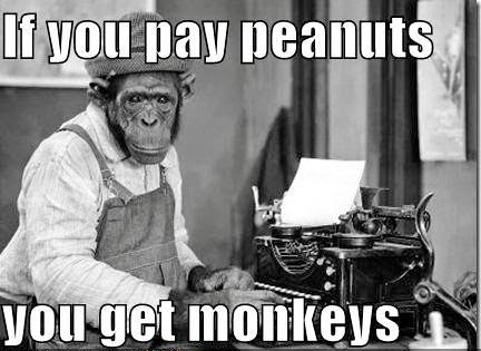 Si pagas con cacahuetes