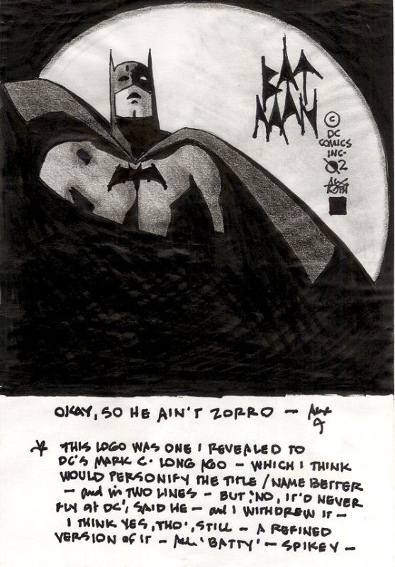 Toth on Batman logo 2002