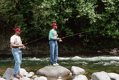 recreation fishing, Kevin Duckworth and Buck Williams Blazers fish Salmon River Mt Hood National Forest