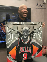 Ron Harper holding R. H. 9 by M. A. S.
