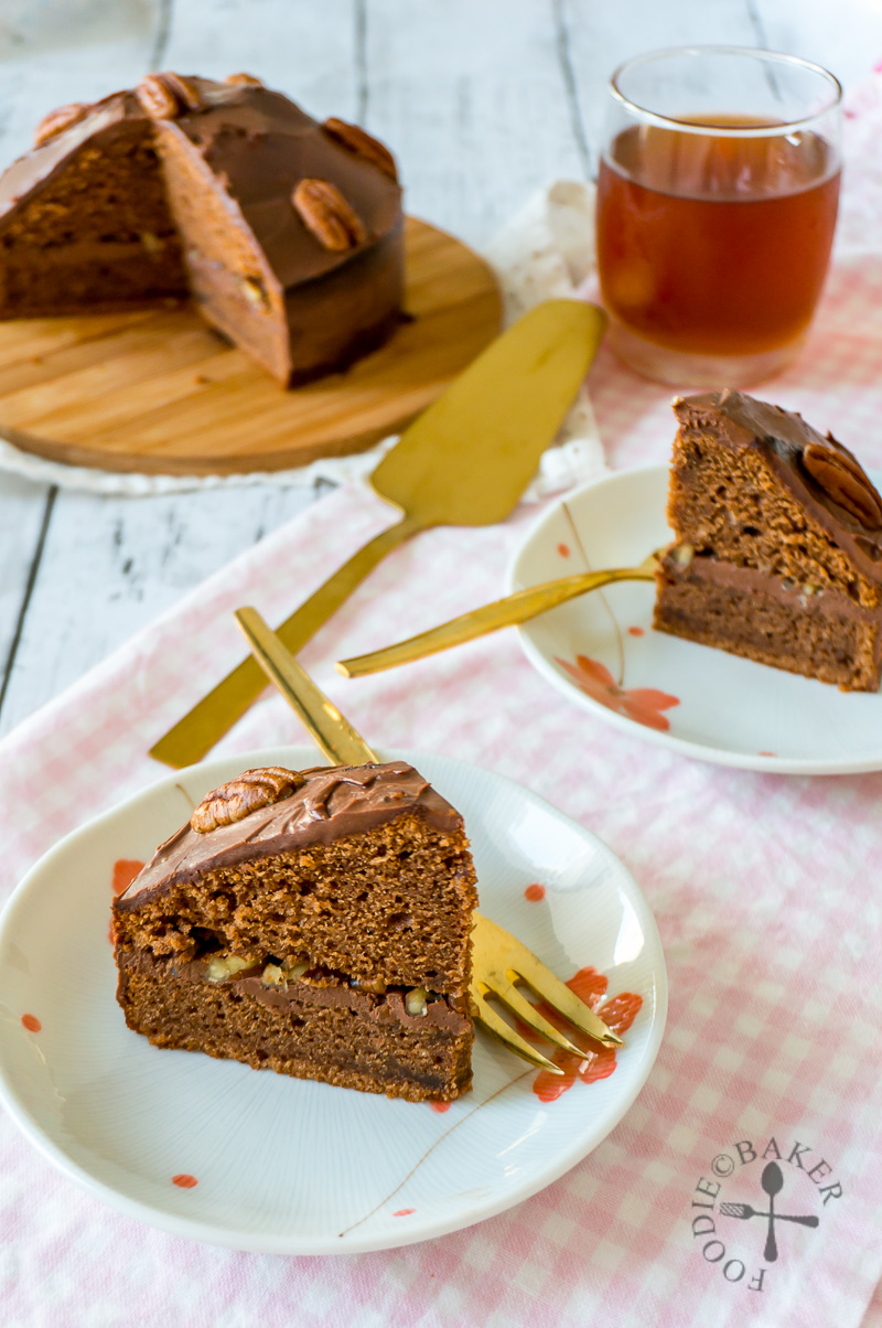 Baileys Chocolate Cake with Sour Cream Chocolate Frosting