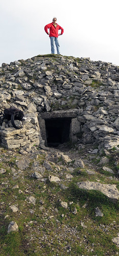 A 'passage' tomb in Carrowkeel, a Neolithic burial site in Ireland
