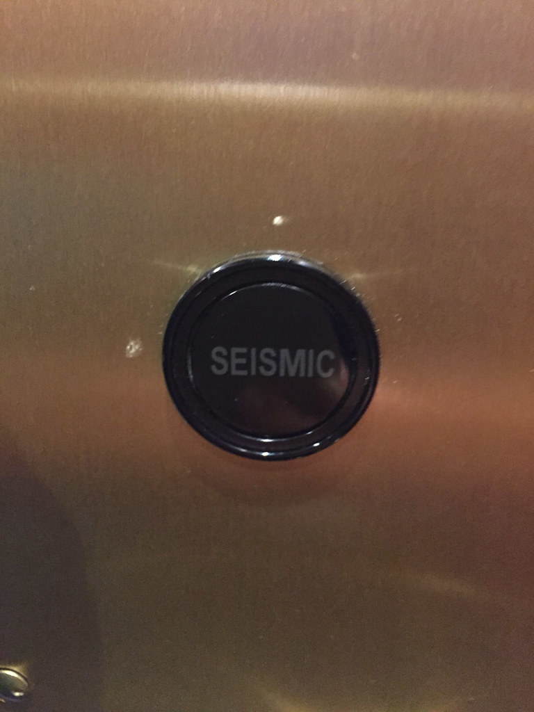 Seismic button in San Francisco elevator